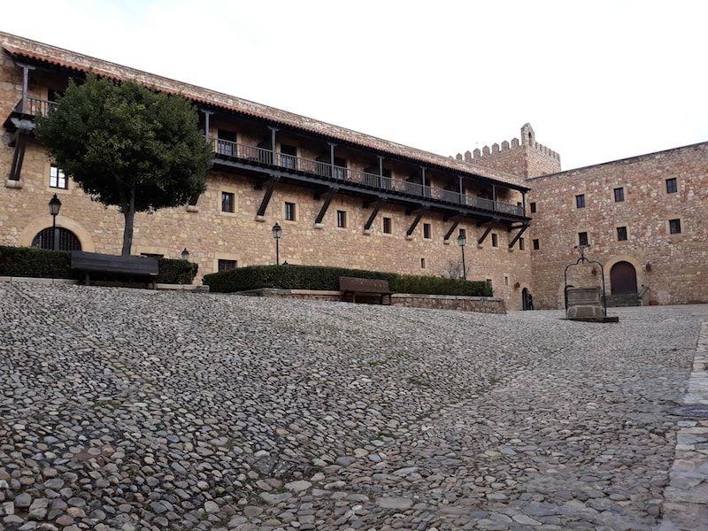 Zona para visitar en el castillo de Sigüenza
