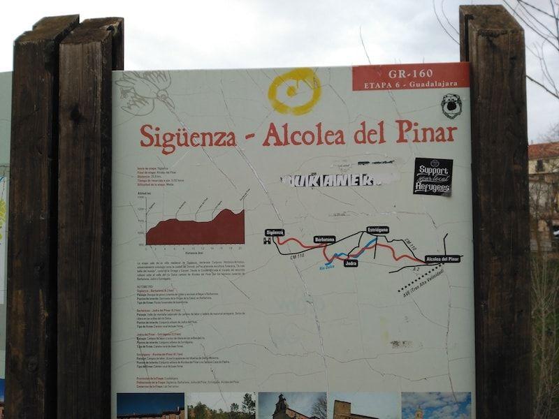 Etapa 6 en Sigüenza de la ruta GR-160