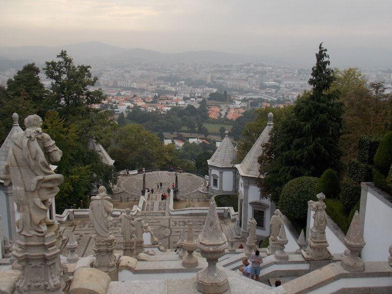 Vistas de Braga desde Bom Jesus