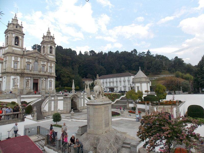 Bom Jesus de Braga cerca de Porto