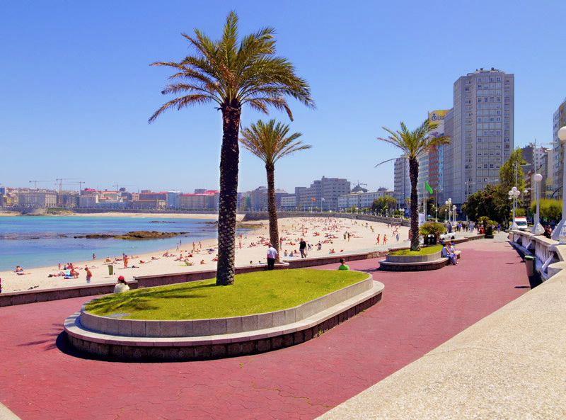 Playa de Riazor en Galicia