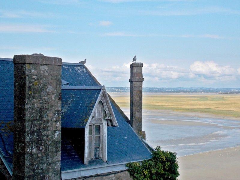 Marea en Saint Michele cerca de Rennes