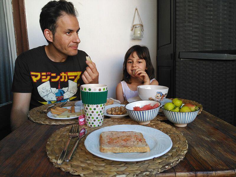 Desayuno en el GuestToGuest en Barcelona