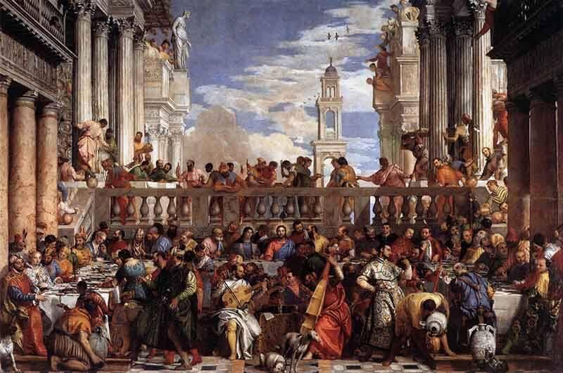 Las bodas de Caná, Veronese, Louvre