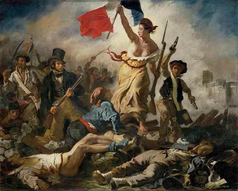 La Libertad guiando al pueblo,de Delacroix, Louvre