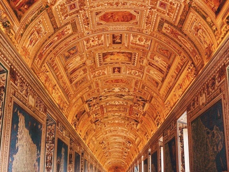 Salas de los Museos Vaticanos en Roma