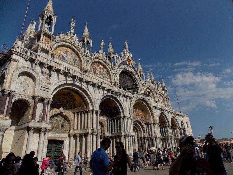 Fachada a la plaza de San Marcos de Venecia