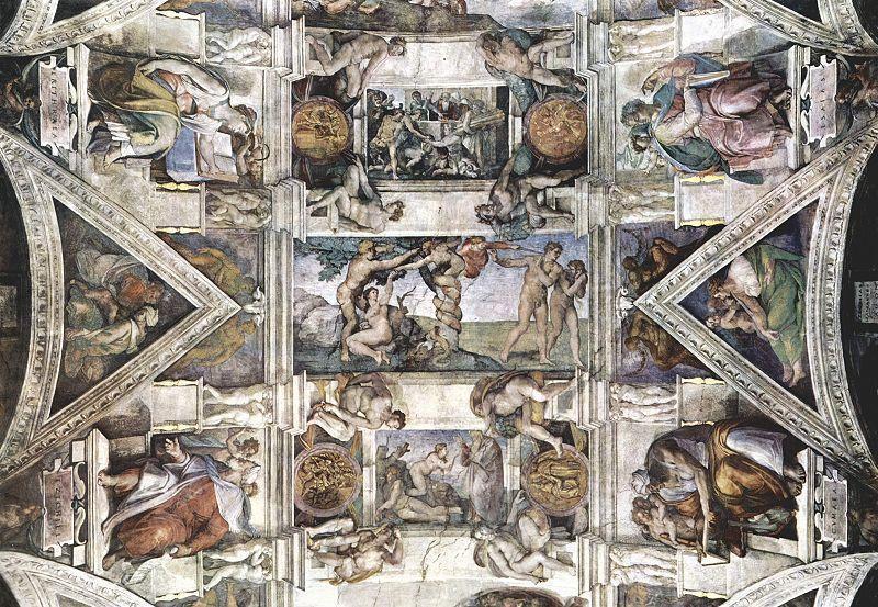 Mural en la capilla Sixtina de Roma