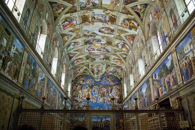 Pintura de miguel Ángel en Roma