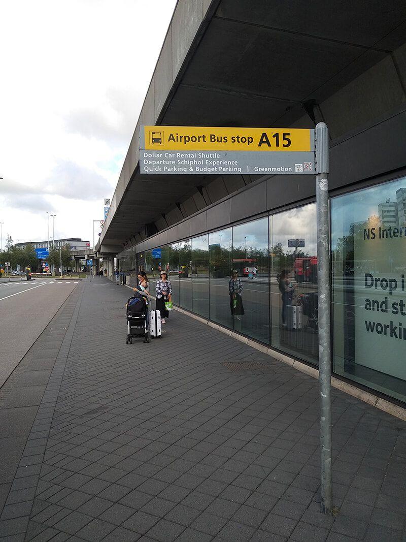 Autobuses desde el aeropuerto de Schiphol