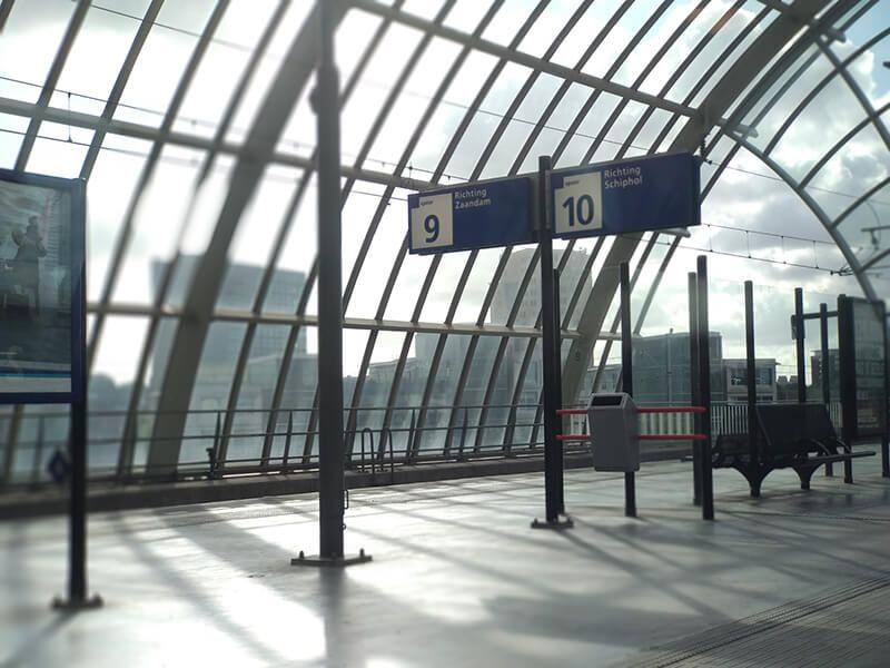 Recorrido en tren hasta el aeropuerto de Ámsterdam