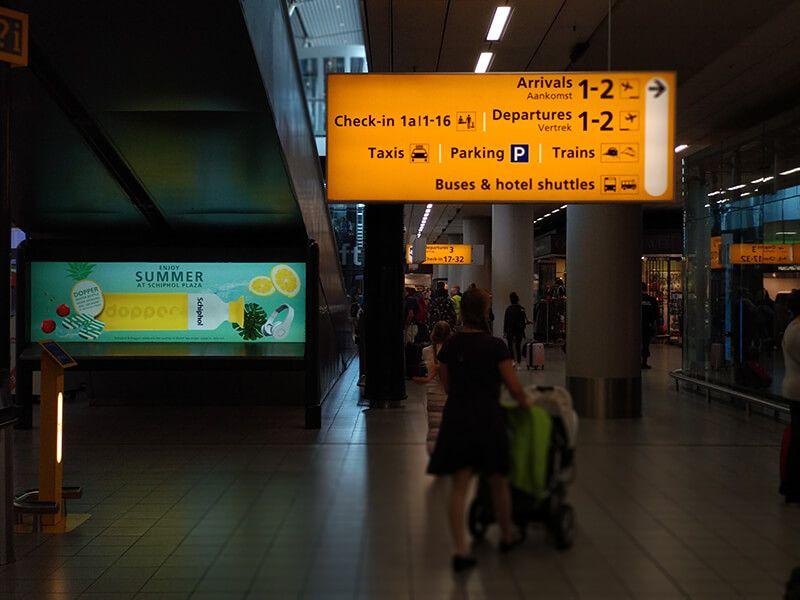 aeropuerto de Schiphol en holanda