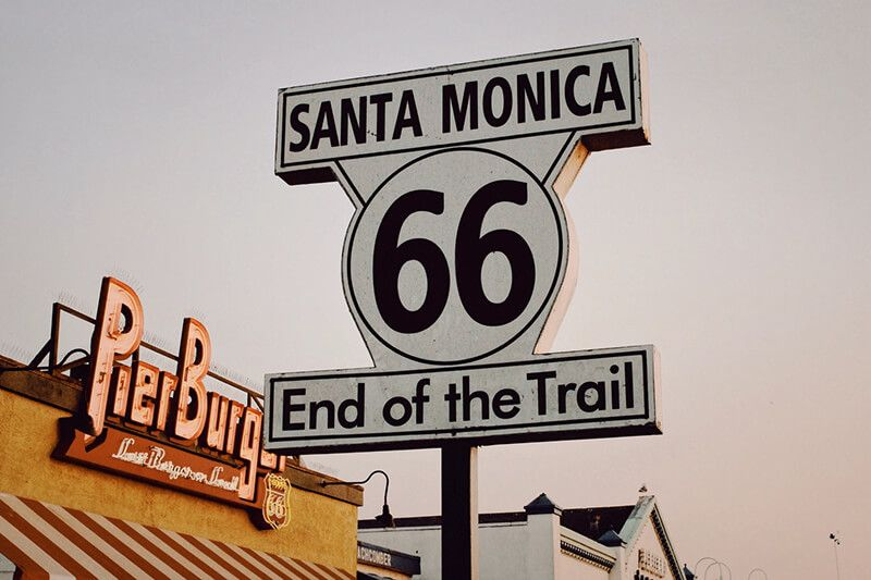 La ruta 66 en Estados Unidos