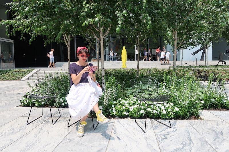 Jardín en uno de los Museos de Nueva York