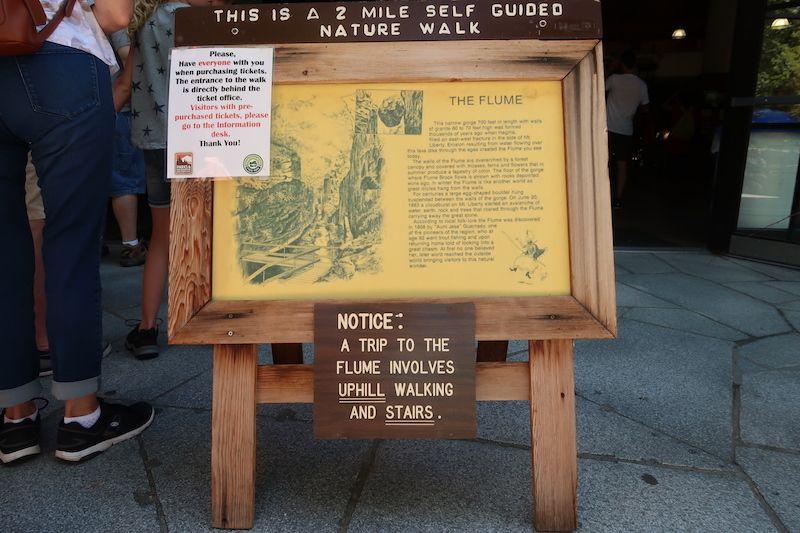 Información práctica en Flume Gorge