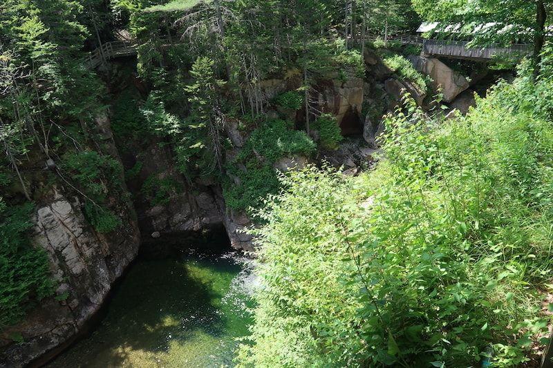 Piscina natural en Flume Gorge
