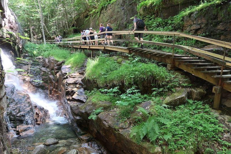 Garganta en Flume Gorge