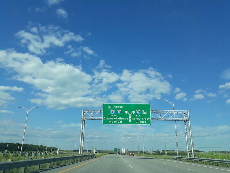 Conducir en Canadá dirección Quèbec