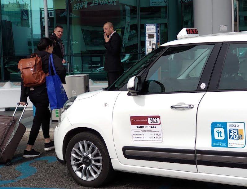 taxi fiumicino roma