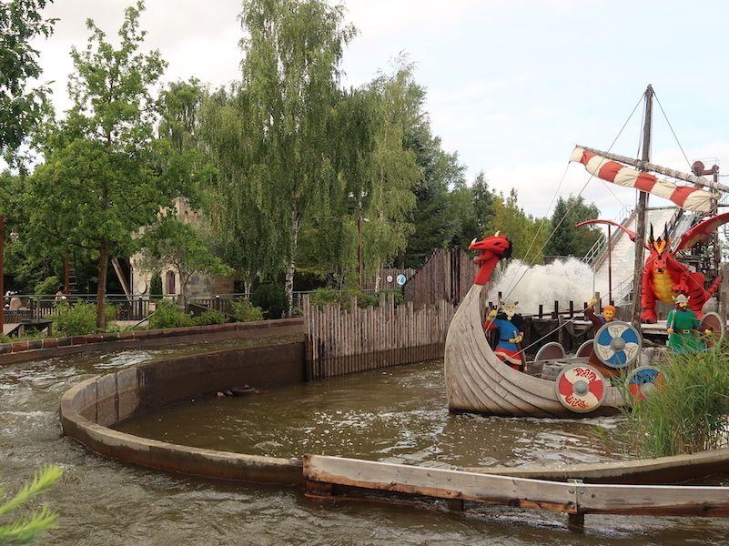 Barco vikingo en Legoland Billund