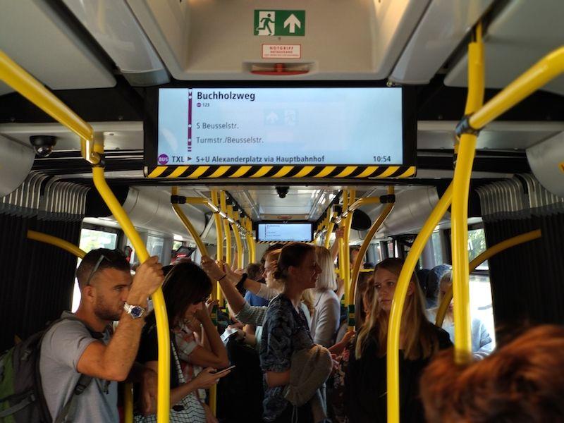 Bus para ir del aeropuerto de Berlín Tegel al centro