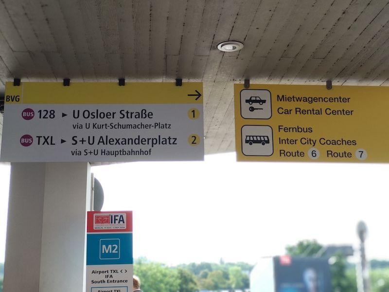 aeropuerto de Berlín Tegel llegadas
