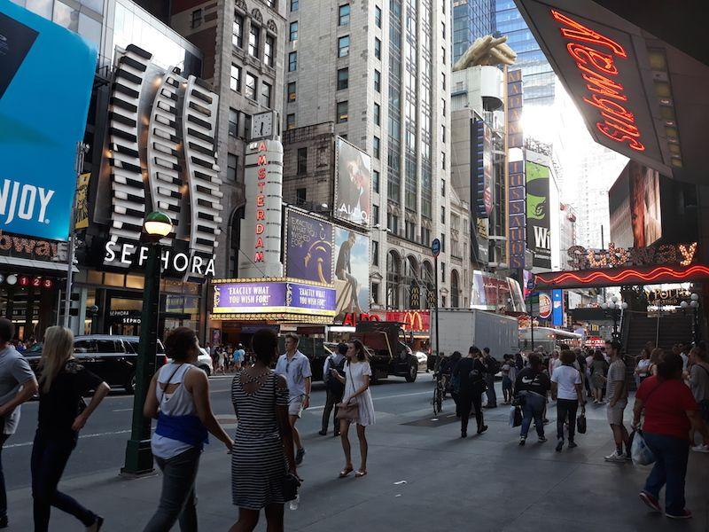 Imprescindibles de Nueva York en Times Square