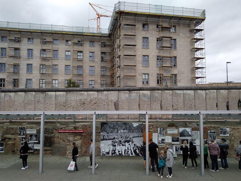 ruta por el muro de Berlin en postdamer platz