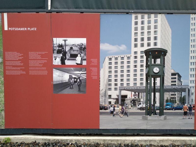 mapa y Ruta por el Muro de Berlín