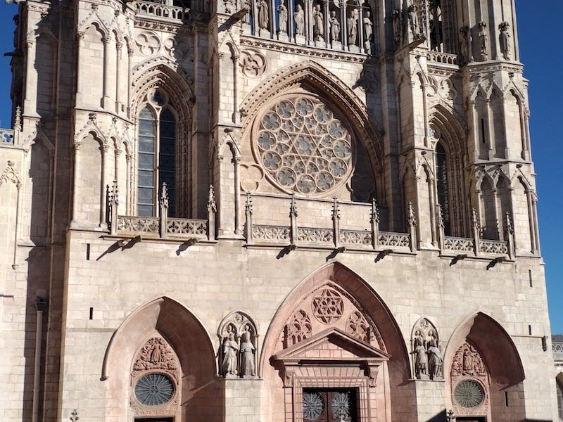 fachada de Santa Marías de la catedral de burgos
