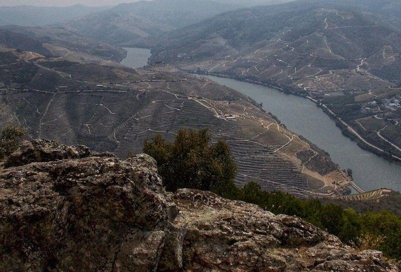 mirador en el valle del douro