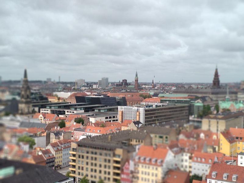 Vistas de Copenhague desde la Torre redonda