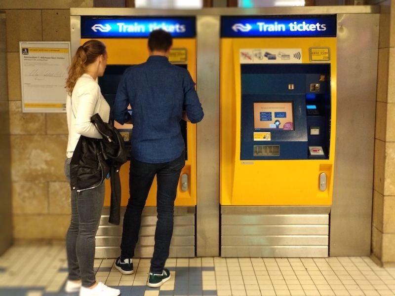 comprar billetes de tren en Ámsterdam