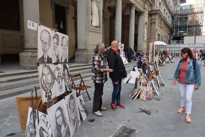 Dónde está la galería de los Uffizi