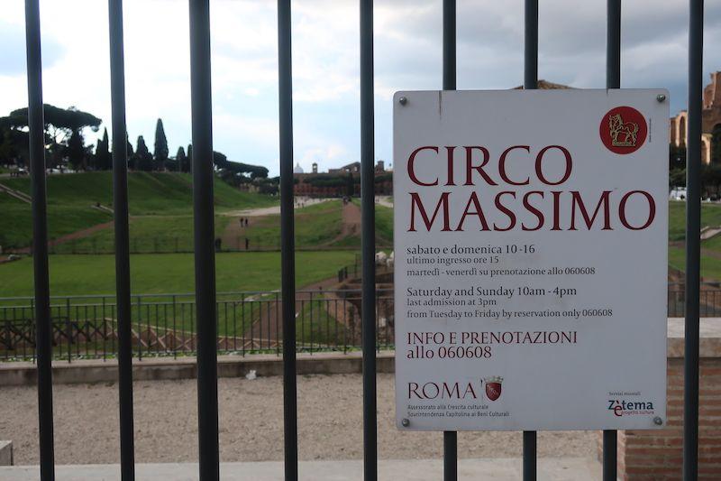 horarios restos romanos roma