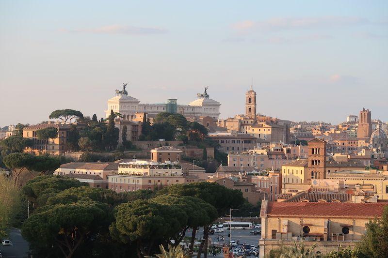 Roma desde el jardín de los naranjos