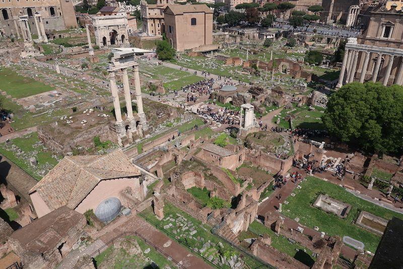 Vistas del foro desde el Palatino