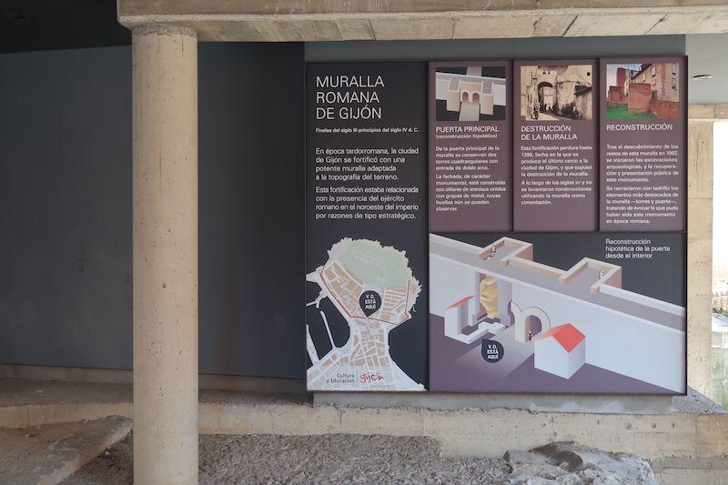 muralla romana Gijón