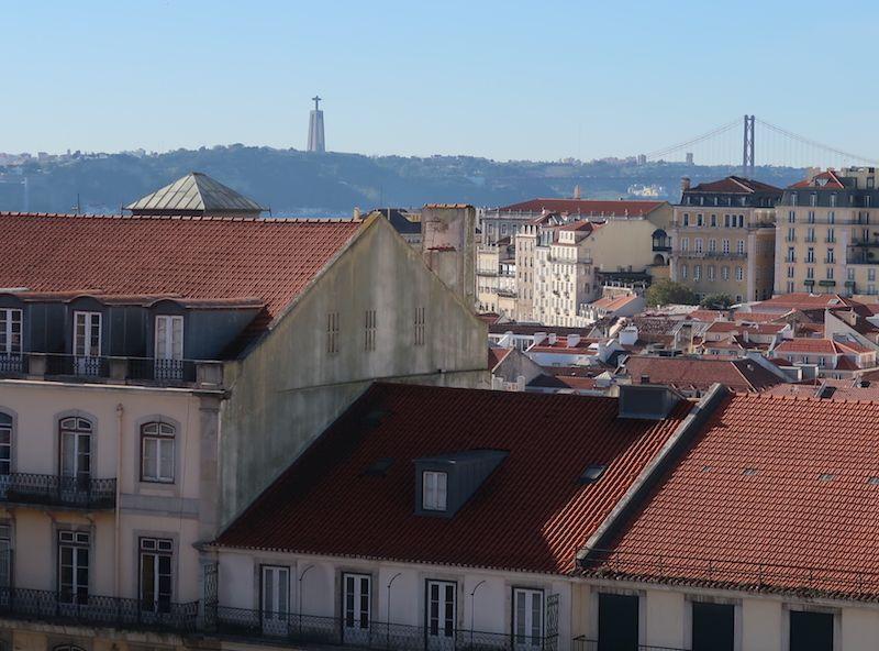 Tejados de Lisboa desde las alturas