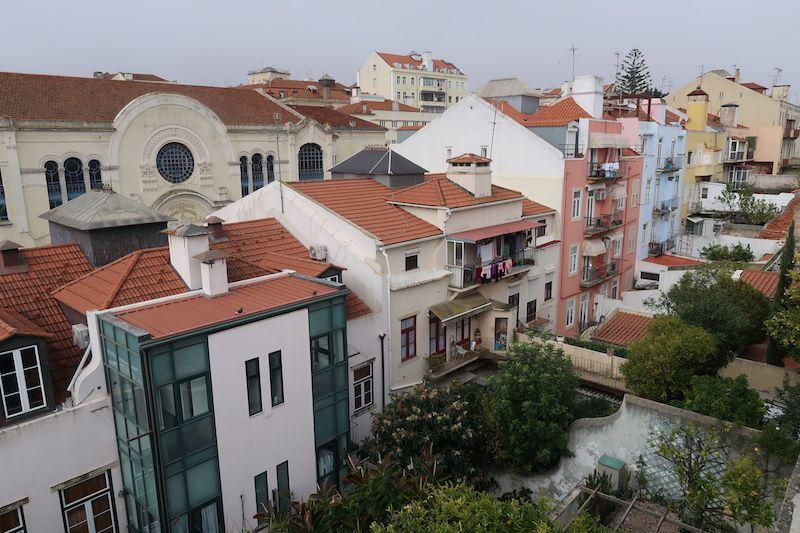 Casas de Lisboa desde las alturas