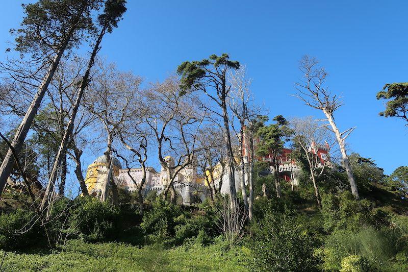 Palacio da Pena al lado de Lisboa