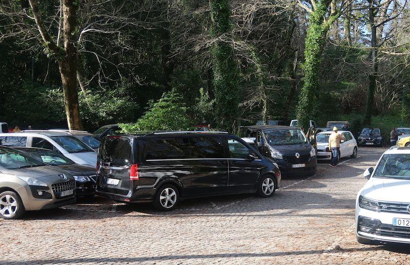 aparcar en el Palacio da Pena