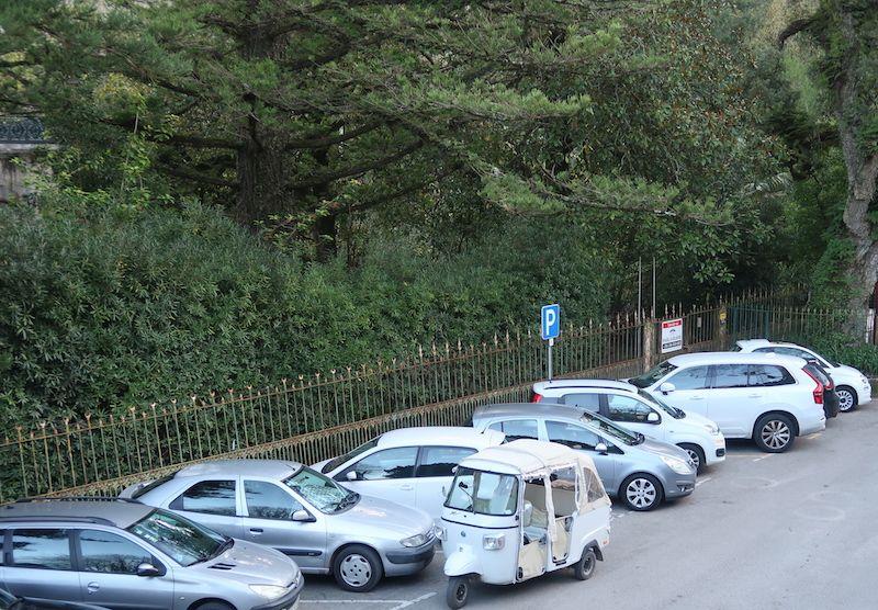 parking cerca de la quinta en Sintra