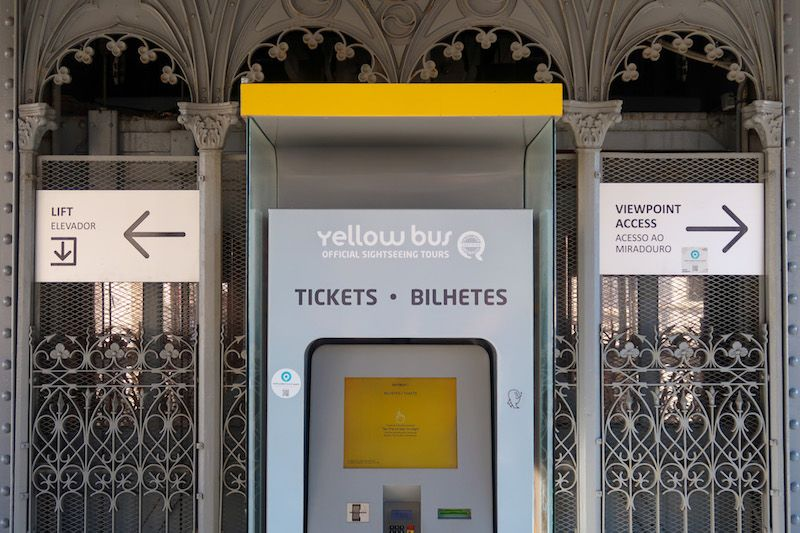horarios y precios del elevador de Santa Justa